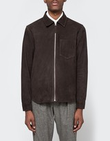 Our Legacy Suede Zip Shirt Dark Mud