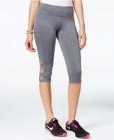 Material Girl Active Juniors' Cropped Cutout Leggings, Only at Macy's