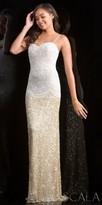 Scala Regal Intricate Beaded Drop Waist Sequin Prom Dress