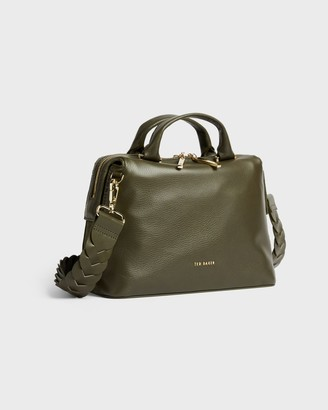 Ted Baker Braided Handle Leather Tote Bag