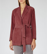 Reiss Willow Suede Wrap Jacket