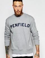 Penfield Sweatshirt With Collegiate Logo - Grey
