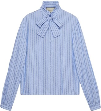 Gucci Cotton shirt with pinstripe