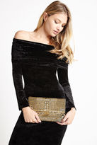 BCBGeneration Heavy-Metal Clutch - Gold