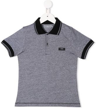 Christian Dior logo patch polo shirt