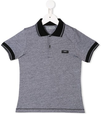 Christian Dior Logo Patch Polo Shirt