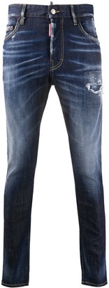 DSQUARED2 Mid-Rise Ripped Skinny Jeans