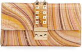 Mario Valentino Valentino By Cocotte Psych Printed Leather Clutch Bag