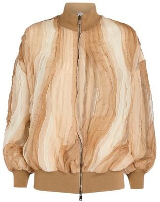 Brunello Cucinelli Silk Bomber Jacket