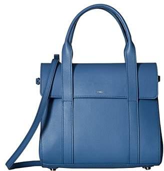 Shinola Detroit Small Soft Satchel Nappa SS (Blue Stone) Satchel Handbags