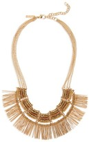 Topshop Women's Beaded Fringe Collar Necklace