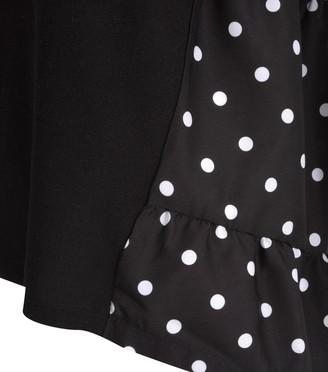 New Look Polka Dot Back Fine Knit Top