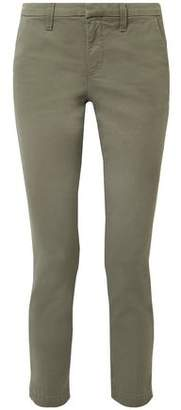 J Brand Clara Cropped Cotton-blend Twill Slim-leg Pants