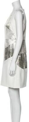 J. Mendel Silk Mini Dress White