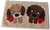 Panda Superstore Lovely Dogs Pattern Entrance Rug Bedroom Rugs Non-Slip Doormats