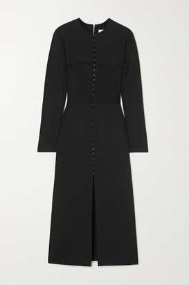 Dion Lee Off-the-shoulder Paneled Stretch-crepe Midi Dress - Black