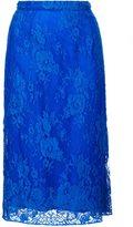 Tome lace straight skirt - women - Cotton/Polyamide - 0