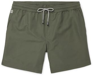 Brunello Cucinelli Wide-Leg Long-Length Swim Shorts