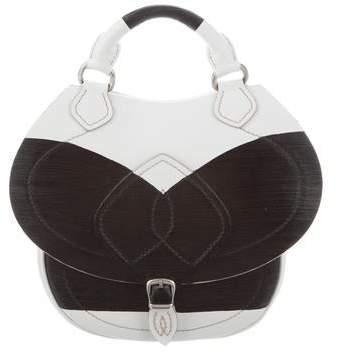 Maison Margiela Leather Two Tone Saddle Bag