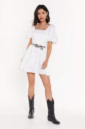 Nasty Gal Womens Square Neck Babydoll Mini Dress - White - 12
