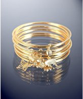 Danielle Stevens set of 12 - gold plated charm bangles