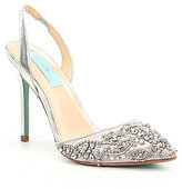 Betsey Johnson Blue by Sonia Sling Back Jeweled Pumps