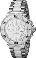 Tag Heuer Women's Formula One Chronograph Watch White CAH1211.BA0863