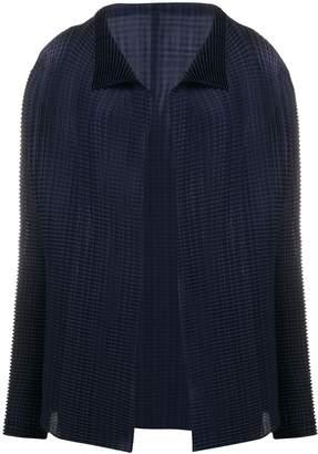 Issey Miyake pleated draped cardigan
