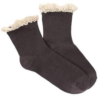 Free People Darling Ruffled Trimmed Crew Socks