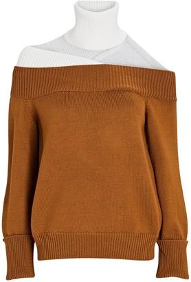 Monse Off-the-Shoulder Turtleneck Sweater