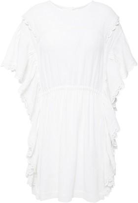 IRO Serenity Cutout Ruffled Cotton-canvas Mini Dress