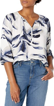 Nic+Zoe Women's Botanical Leaf Blouse