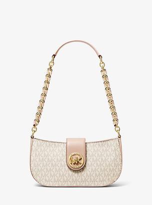 MICHAEL Michael Kors MK Carmen Extra-Small Logo Shoulder Bag - Vanilla/soft Pink - Michael Kors