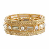 Natasha Accessories Natasha 3-pc. Crystal Gold-Tone Stretch Bracelet Set