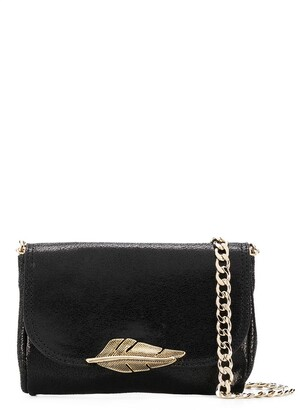 Just Cavalli Leaf Plaque Crossbody Bag