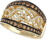 LeVian Le Vian Chocolatier® Chocolate and White Diamond (1 ct. t.w.) Band in 14k Gold