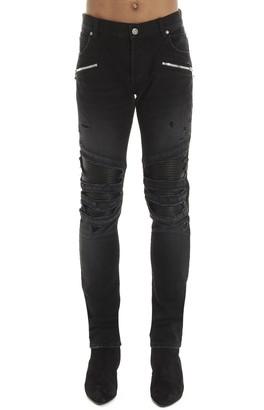 Balmain Skinny Fit Biker Jeans