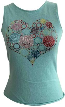 Lucien Pellat-Finet Lucien Pellat Finet Turquoise Cashmere Top for Women