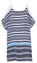 Lemlem Cold-Shoulder Striped Cotton-Blend Gauze Coverup