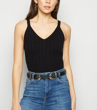 New Look Ribbed Knit Bralette