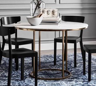Pottery Barn Delaney Round Marble Pedestal Dining Table