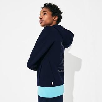 Lacoste Women's SPORT Roland Garros Print Zip-Up Sweatshirt