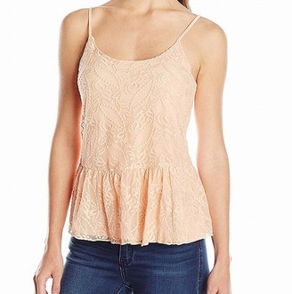 Jessica Simpson Women's Jed Renee Embry Mesh Sleeveless Top JR-Almos