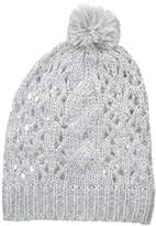Nine West Women's Open-Stitch Pom Beanie