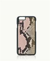GiGi New York iPhone 6/6s Hard-Shell Case Pink Embossed Python Leather