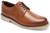 Rockport Marshal Plain Toe Derby Shoes, Cognac