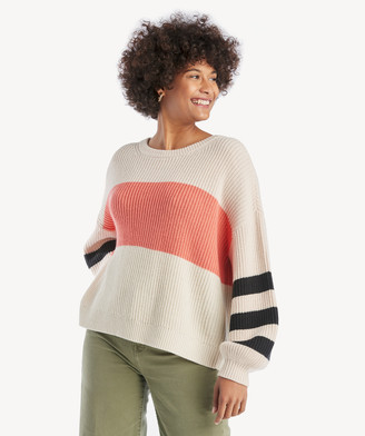 Sanctuary Women's Playful Striped Sweater In Color: Himilayan Salt/coral Size XS From Sole Society