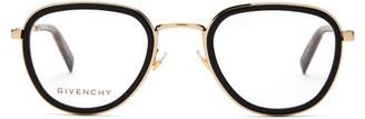Givenchy D-frame Metal & Acetate Glasses - Black Gold