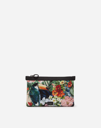 Dolce & Gabbana Palermo Tecnico Fanny Pack In Neoprene With Forest Print