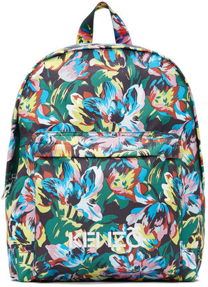 Kenzo Black Vans Edition Floral Backpack
